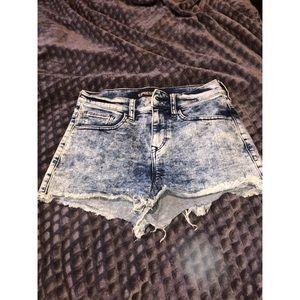 Express Acid Wash Shorts
